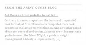 WordPress post from feed