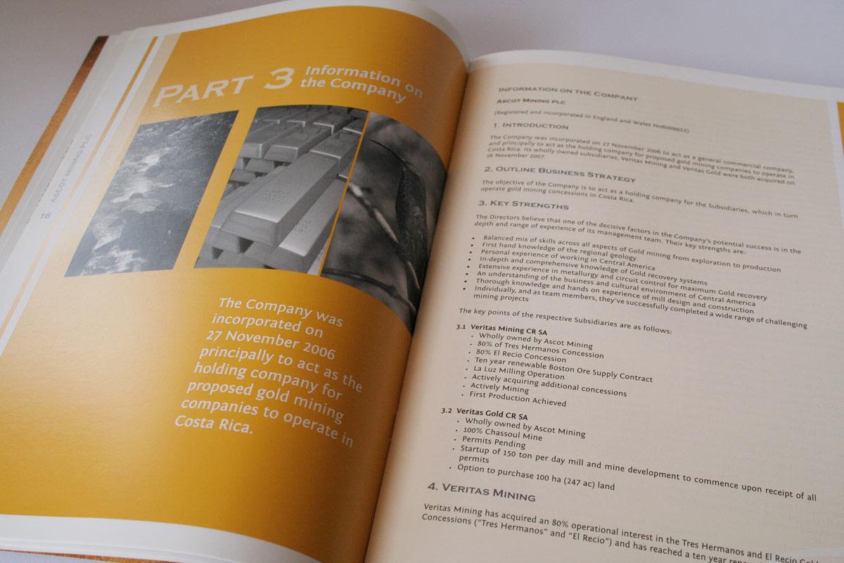 A4 printed brochure