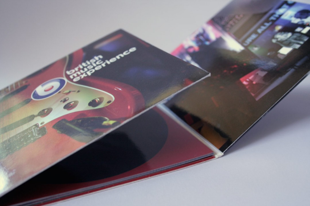 printed cd cover with booklet