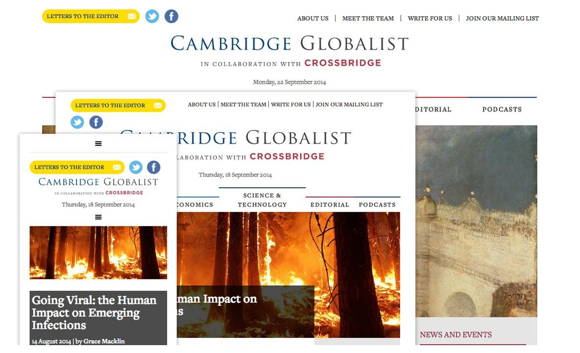 newspaper style web design