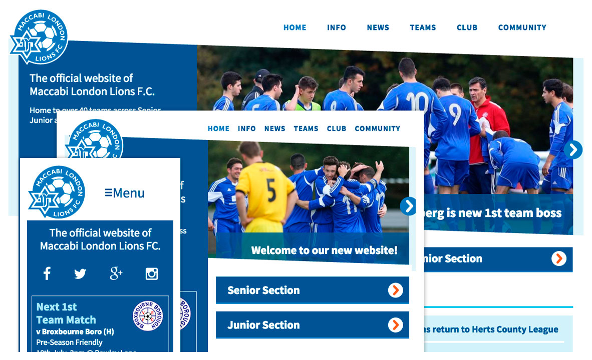 football club WordPress website
