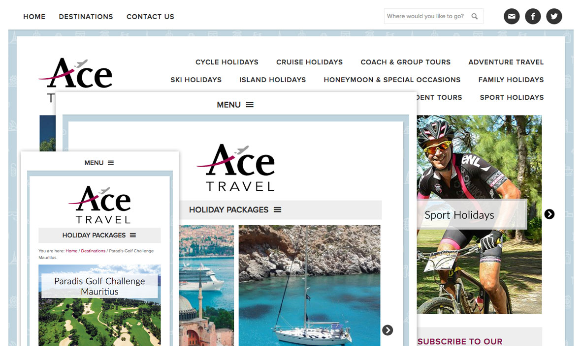 acetravel travel website