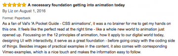 amazon review for Designing Interface Animation book