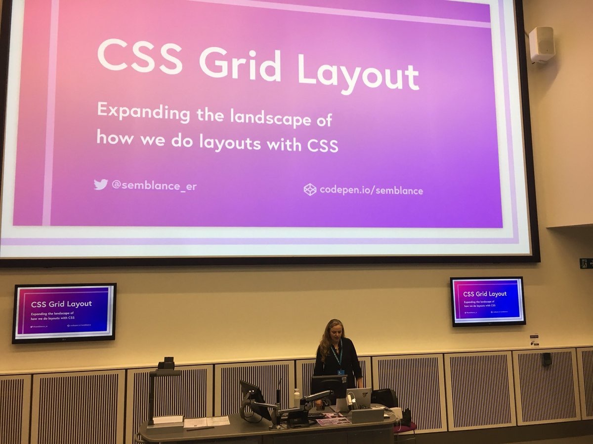 Speaking about CSS Grid Layout at WordCamp Manchester 2017