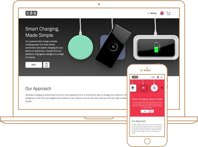 CS Wireless website screenshots